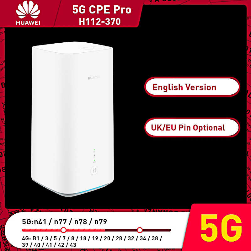 Versione inglese 5G WiFi Router Router Wireless con Slot Per SIM Card Huawei 5G CPE Pro H112-370