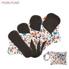 Mora Mona Environmental Bamboo Charcoal Comfortable Menstrual Napkin With 1 Wet Bag