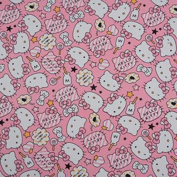 Ancho 143 cm * 1 yarda fino Mickey Minnie impreso lona algodón tela costura Material Diy hogar mantel Patchwork bolsa de lona