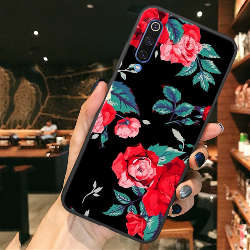 Soft Silicone Phone Case For Huawei Honor 10i 10 Lite case honor 20 3D Matte Flower Pattern Cartoon Back Cover honor 10i case in Fitted Cases from Cellphones Telecommunications