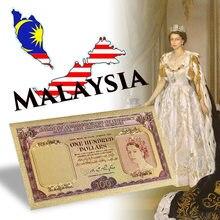 WR Fke – billets de banque en or de 100 Dollars, conseil des gardiens de la monnaie malaisienne et britannique Borneo, accessoire cadeau