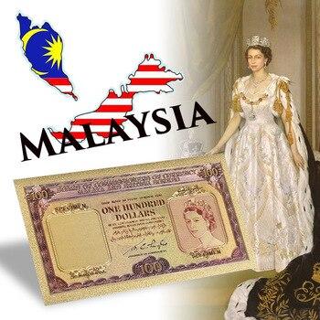 WR Fke billetes de dinero 100 dólares oro billetes tablero de Comisionados de moneda Malaya y británico Borneo Prop dinero regalo