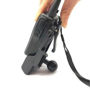 Image 4 - Radio Houder Met Riem Clip Met Diamant Plaat Compatibel Met 1 Inch Rubberen Bal Voor Auto Motorfiets Interphone
