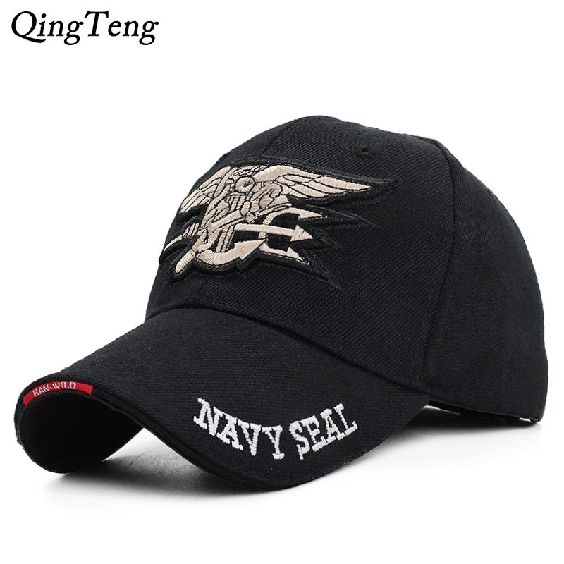 Eua equipe da marinha boné de beisebol tático dos homens marinha selos bonés marca gorras algodão do exército snapback chapéu osso preto masculino novo 2019
