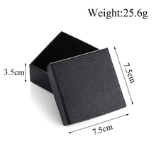 Black Jewelry Gift Box Decoration Imitation Crocodile Leather Jewelry Box Festival Popular Classic Gift Box