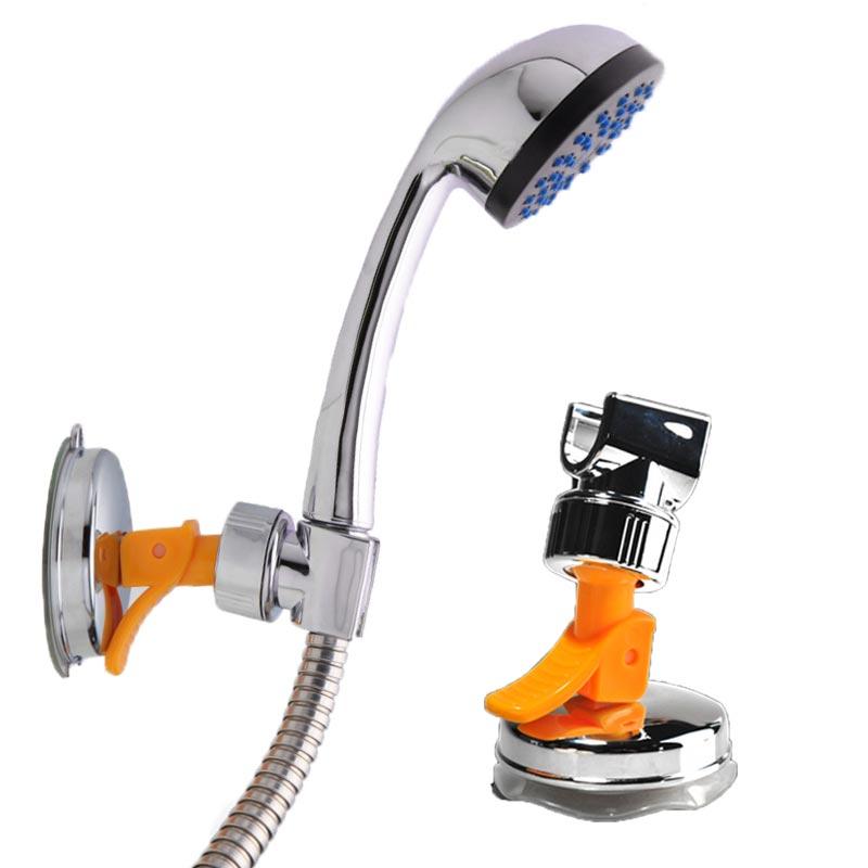 Hot Wall Mount Suction Bracket Shower Head Handset Holders Chrome Bathroom  FAX