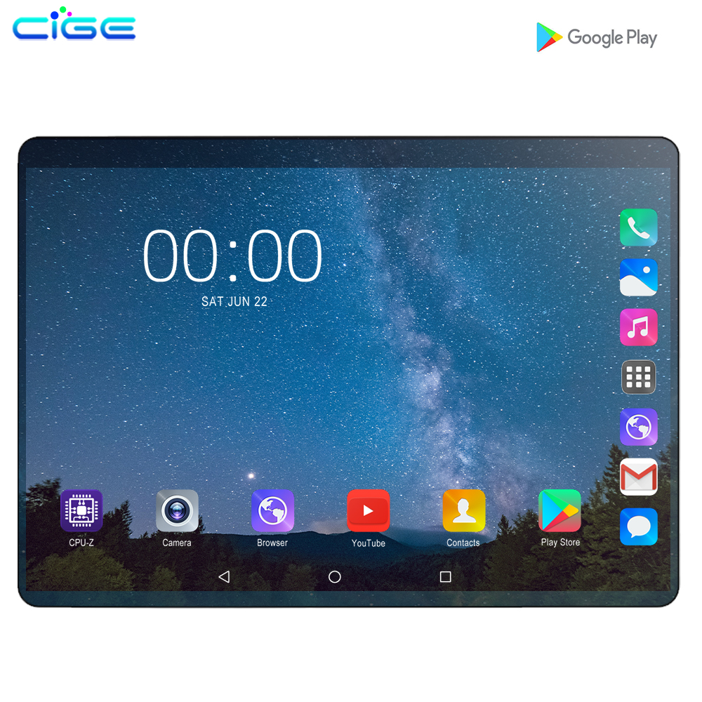 2.5D Screen 6G RAM 128G ROM 10 Inch 3G/4G LTE Dual SIM Tablet Pc Android 9.0 Octa Core PC Tablets 8MP GPS WIFI Bluetooth 10.1