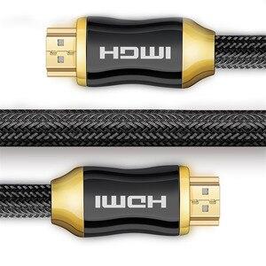 Image 5 - כבל HDMI ל HDMI 4k כבל 2.0 גרסה יוקרה מצופה זהב זכר לזכר מתאם כבל 3D עבור מקרן HD טלוויזיה STB מחשב נייד כבל