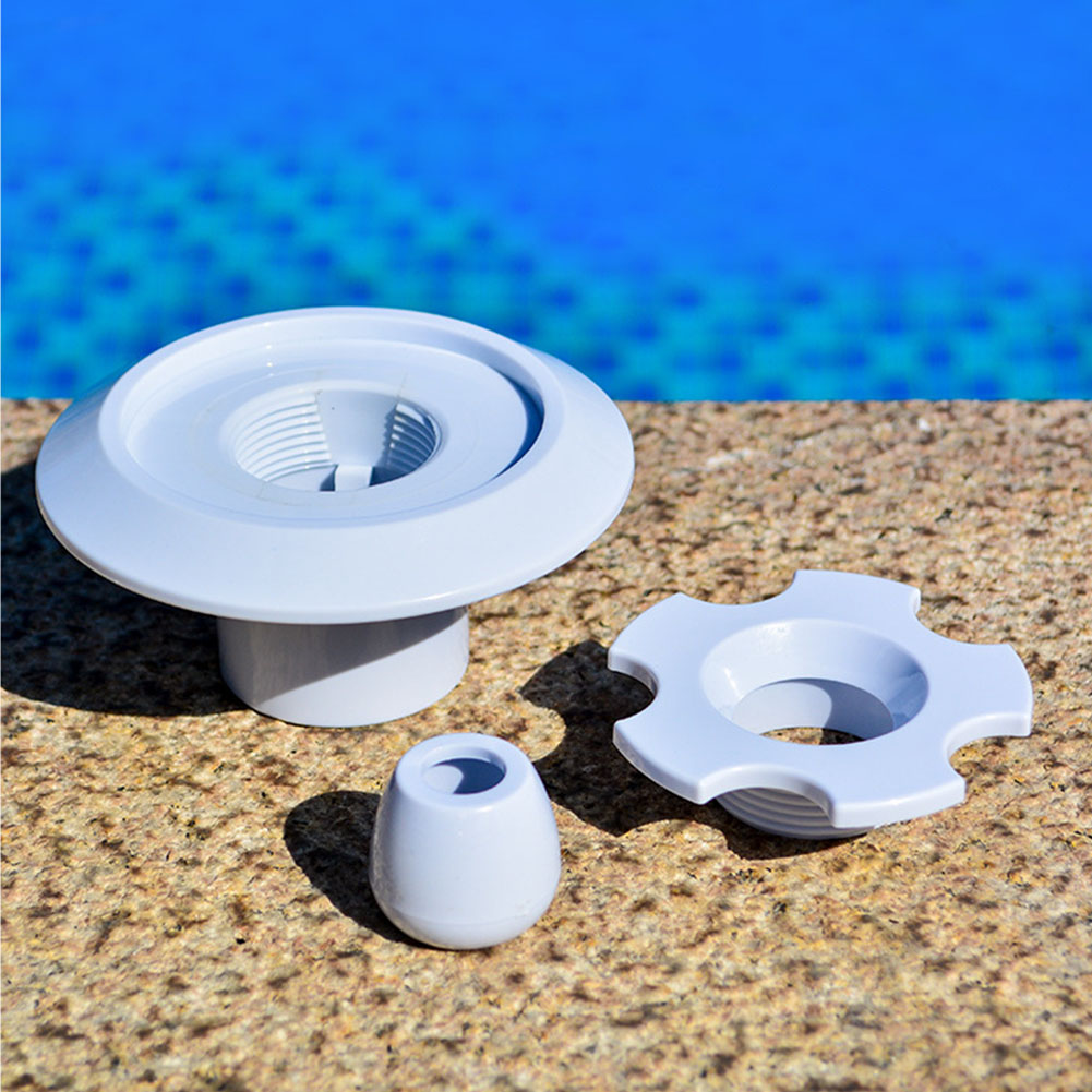 Replacement Parts Swimming Pool Spout Draining Fitting ABS Removable Durable 360 Rotatable Massage Nozzle Round Indoor Outdoor