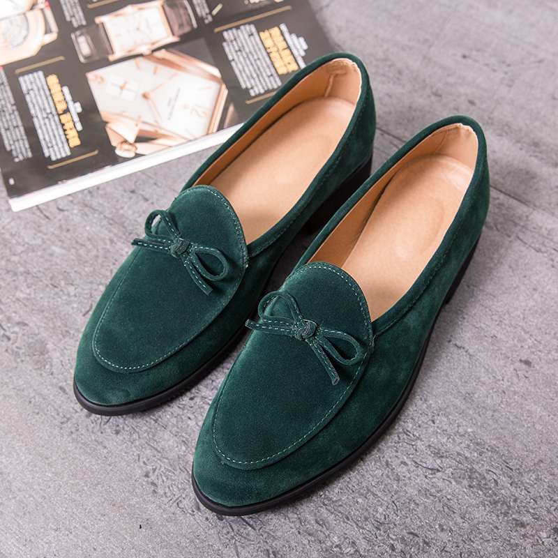 Fashion Loafers Shoes For Men Casual Green Orange Large Size 38-47 Causal Sneakers Fashion Men Moccasins Men Loafers Suede