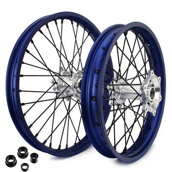 "BIKINGBOY 21"" 18"" MX Front Rear Wheel Rims Hubs Sets For Yamaha YZ250F YZ450F YZF 250 450 2014 2015 2016 2017 2018 2019 14-19"