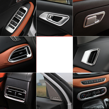Lsrtw2017 Stainless Steel Abs Car Interior Panel Gear Water Cup Door Bowl Panle for Chery Tiggo 7 2016 2017 2018 2019 2020