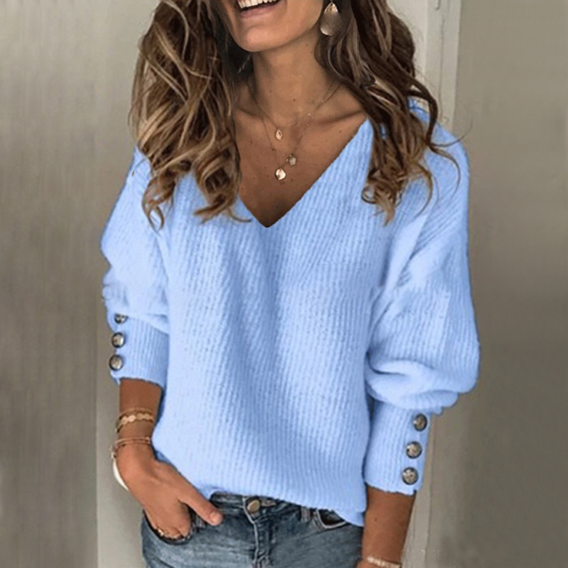 2020 New Spring Vintage Knitted Sweaters Women Pullover V Neck Solid Sweaters Elegant Female Sweaters Pullovers Jumper Outwears