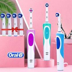 Oral b sonic escova de dentes elétrica recarregável rotativa vitalidade cuidados dentários escova de dentes higiene oral eletrônico