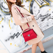 fashion handbag Rivet trend Jelly Package Leisure Solid color luxury hand