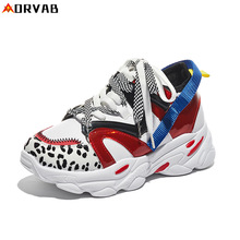 ORVAB Women Casual Sports Shoes Lace Up Breathable Thick Bottom Increased Height Sneakers Outdoor Female Joker