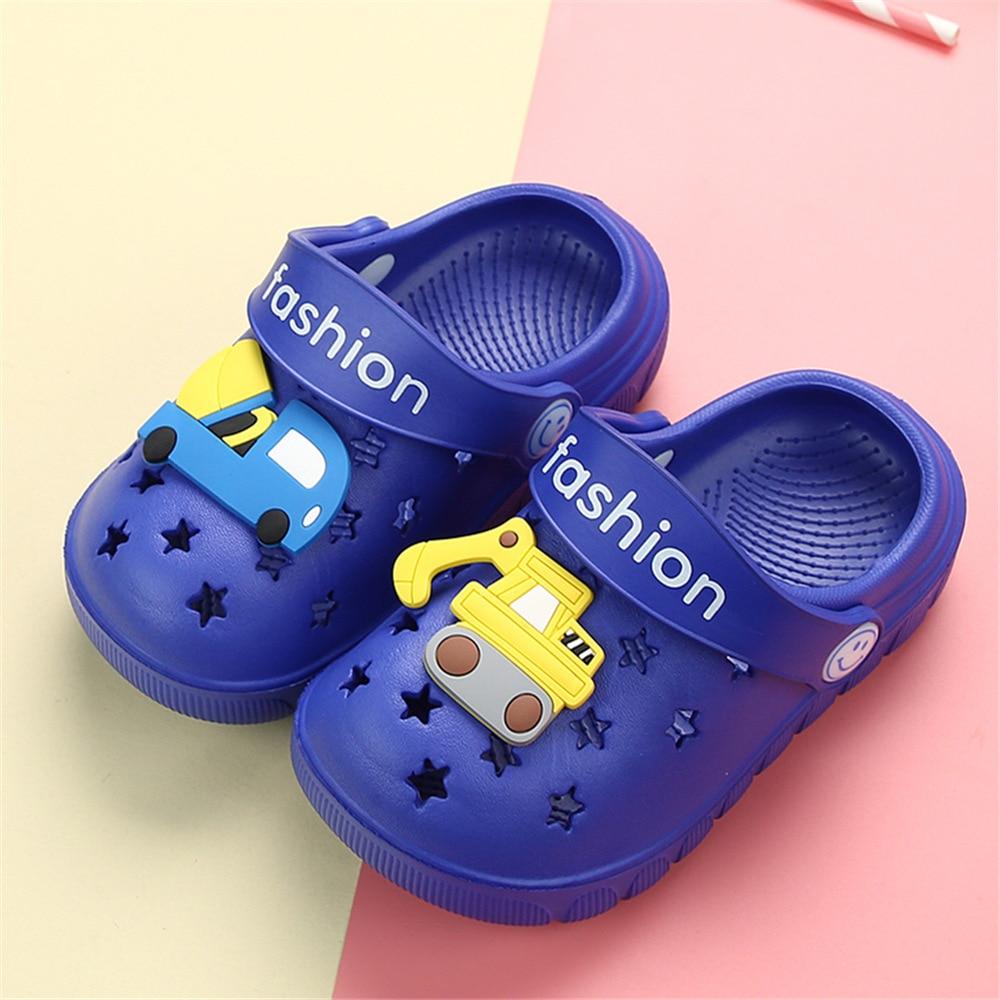 Lemonkid Cartoon Excavator Kids Boy Girl Beach Sandals Slippers Shoes Toddler Baby Unisex Kids Lovely Non Slip Slipper Sandals