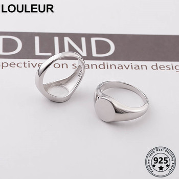 Louleur 925 sterling silver fancy Customize Rings Simple Trendy Design Engraved Personality For Women Jewelry Silver