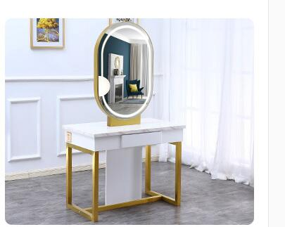 Barber Shop Mirror Table Hair Salon Mirror Hair Salon Dedicated Light Modern Barber Mirror Double-sided Hot Dyeing Hair Mirror