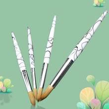 Kolinsky – pinceaux à ongles acryliques en alliage d'aluminium et de couleurs dégradées, outil de Nail Art, kit de vernis à ongles, stylo de peinture pour constructeur de Gel