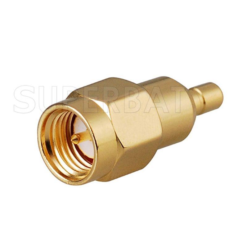 Superbat 2pcs SMA-SSMB Adapter SMA Plug Male To SSMB Female Jack ST RF Wifi Connector