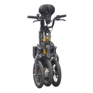 JX003 High Speed 14 Inch Folding Electric Scooter High-end 350W Electric Tricycle with Lithium Battery 3