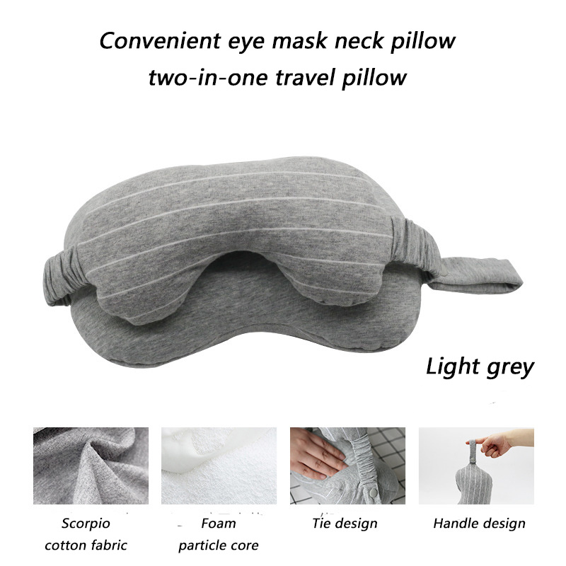 Orthopedics Travel Neck Pillow Eye Mask Neck Pillow Two in one Home Train Airplane Travel Pillow Fashion Portable Head Support in Travel Pillows from Home Garden