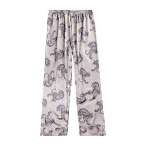 JAYCOSIN Men Sleepwear Print-Trousers Comfy-Pants Bottoms Silk Winter Man Summer Polyester