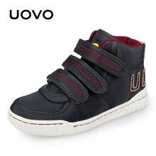 Uovo 가을 겨울 어린이 캐주얼 신발 소년과 소녀 스 니 커 즈 mid cut 패션 키즈 학교 신발 키즈 신발 크기 28 # 39 #