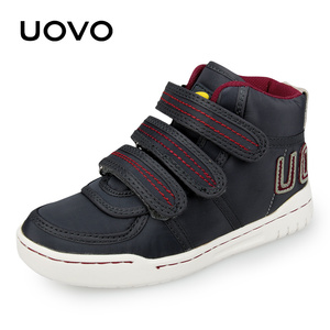 Image 1 - Uovo осень зима Детская мода повседневная обувь Лидер продаж Обувь для мальчиков и девочек Mid CUT совета Обувь дети Спортивная обувь размер EUR 28 # 39 #