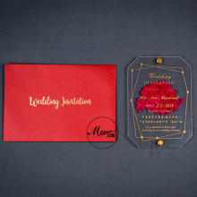 Customized Acrylic Wedding Invitations Marriage Sen Network Red Invitation Wedding Invitation Card Creative Hot Stamping Invitat
