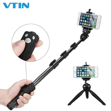 VTIN Bluetooth Selfie Stick Portable Extendable Wireless Shutter Selfie Stick Monopod Tripod Phone Holder With Remote Control