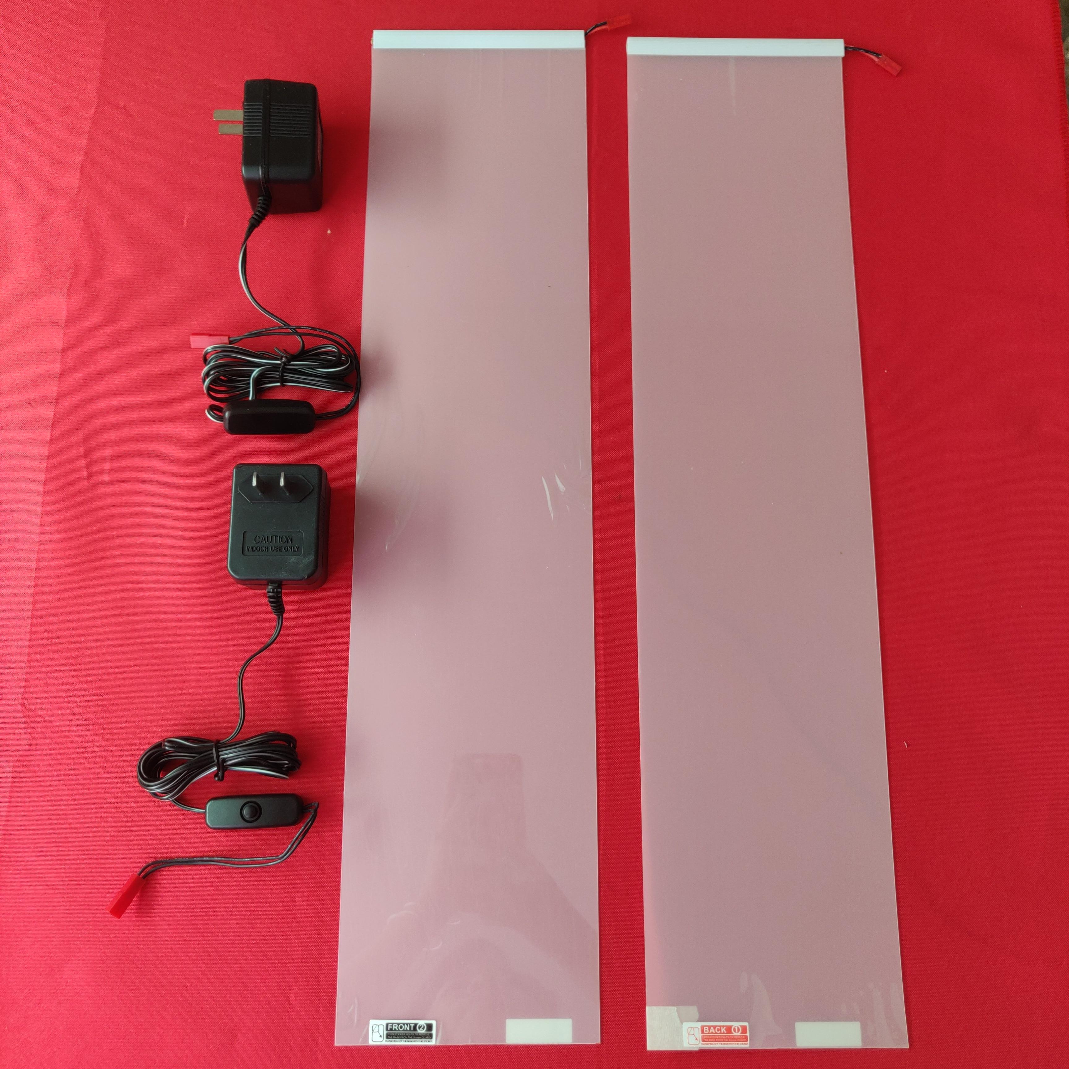 2PCS 120 * 520mm White Smart Switchable Dimming Glass PDLC Film Smart Tint Film Self-adhensive