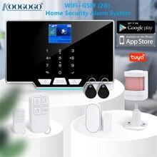 Tuya Wireless Home WIFI GSM Home Security With Motion Detector Sensor Burglar Alarm System APP Control Support Alexa & Google