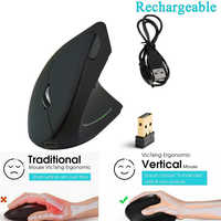 USB Optical Vertical Wireless Mouse Receiver Silent Computer Mouse For PC Overwatch Laptop Pk Logitech Xiaomi Computer Mouse