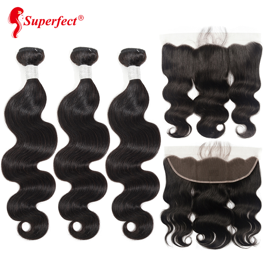 Superfect Body Wave Bundles With Frontal Brazilian Human Hair Weave Bundles With Closure Remy Lace Frontal Innrech Market.com