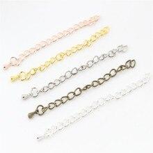 20 шт./лот, 50 мм/70 мм, 5*4 мм, удлиненная цепочка, ожерелье, хвостовая цепь, коннектор для браслета, базовый лоток