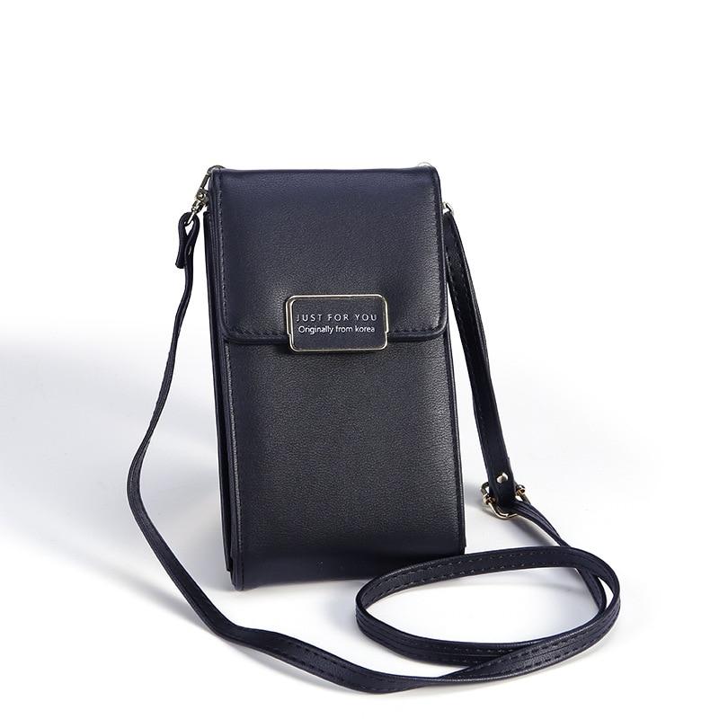 2019 New Fashion Women's Shoulder Bag Solid Korean Style Long Phone Purse Portable Messenger Bag Handbag