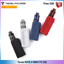 Original Veeape TESLACIGS WYE II 86W TC Vape Kit wi/ 4ml Citrine 24 Tank E cigarette vaping Kit vs Punk 86W/ Luxe Kit/ Shogun