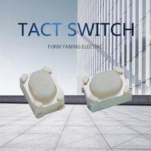 100 шт белый кнопочный переключатель 4 штифта четыре ноги 3*4*2,5 мм сенсорный пульт дистанционного управления электрический ключ части