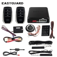 EASYGUARD button start stop pke keyless entry system remote start kit for car car central lock system kit engine start button