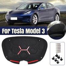 Cubierta para maletero delantero de Tesla modelo 3, aislamiento acústico, algodón, placa antigolpes, modificación de aislamiento, almohadilla protectora para maletero de coche