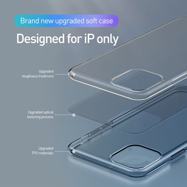 Baseus iPhone 11 Pro Max High Transparent Soft Silicone Back Case Cover