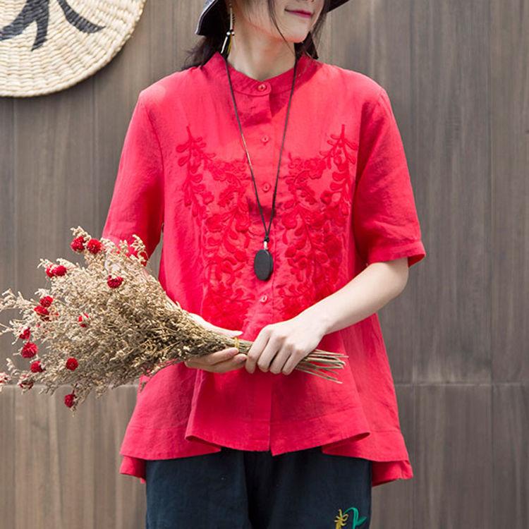 Women Fashion Elegant Casual Look Shirt Female Tops Cute Polka Dot Print Weekend Blouse Summer Single Breasted Shirt and Blouse 11