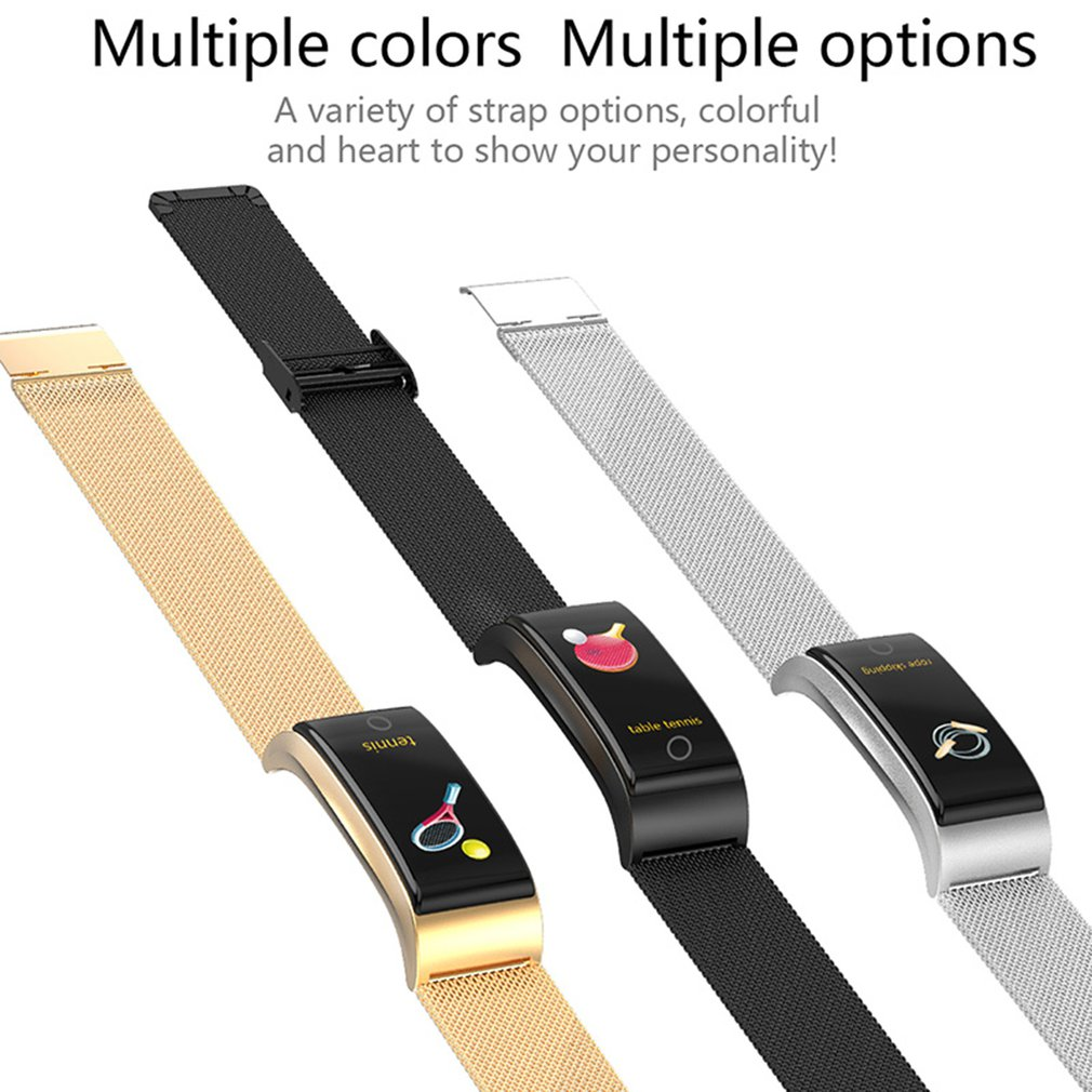 Strap - F4 Metal Smart Band Wristband Blood Pressure/Fitness/ Heart Rate Monitor