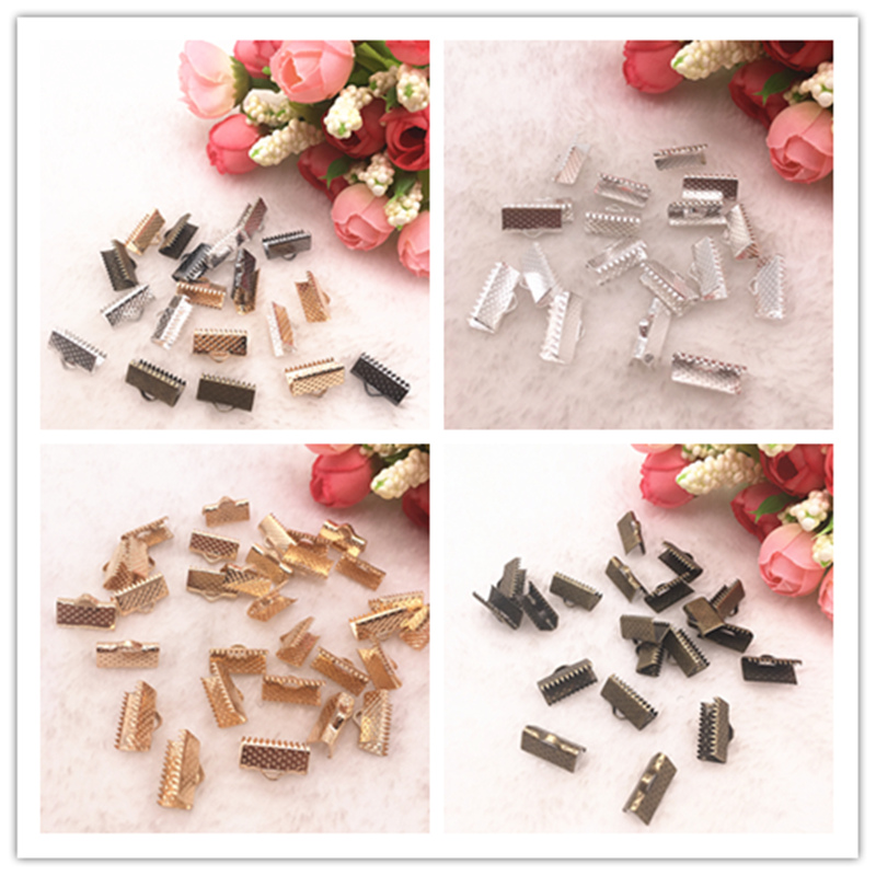 50-100pcs Crimp End Beads Leather Cord Clasps End Caps For Jewelry Making Cords Connectors DIY Jewelry Findings