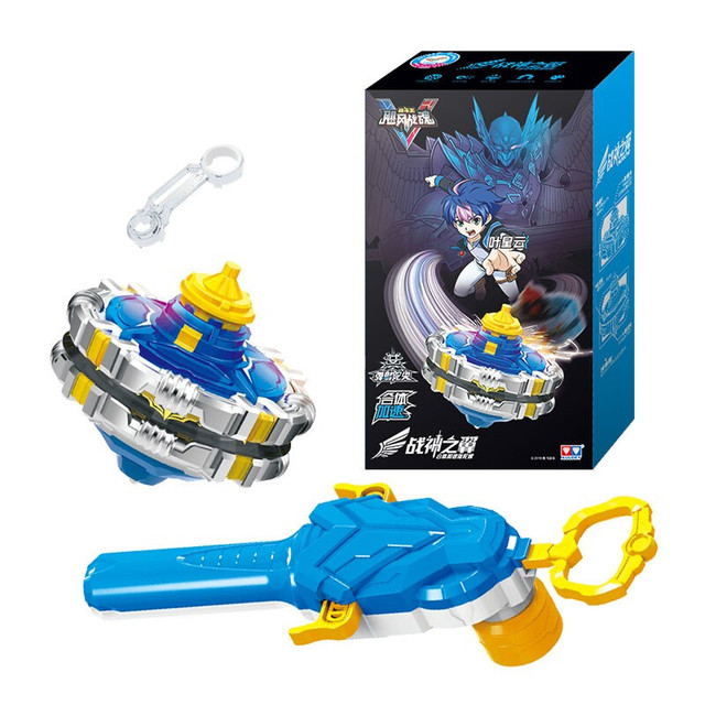 Classic Toys Infinity Nado 5 Gyro Toy Metal Magnetic Multiple Gyro Combination Battle Top with Launcher for Children Gift