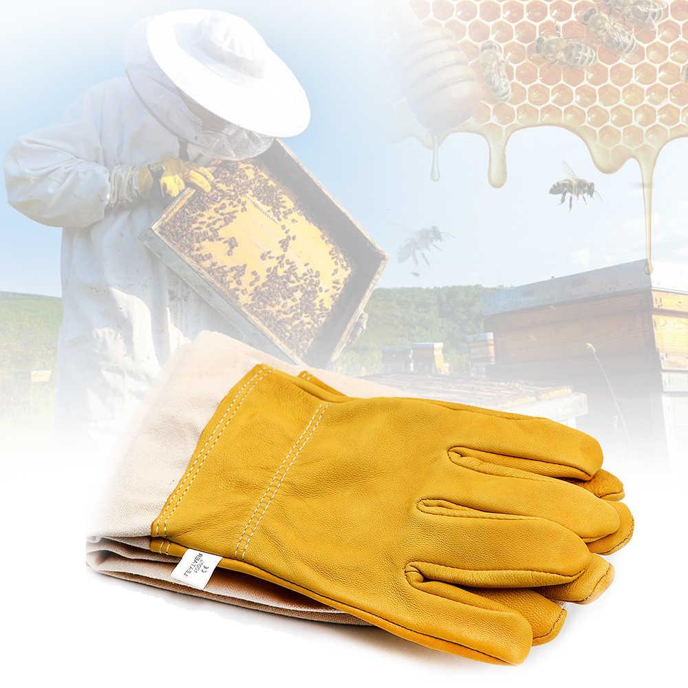Peternak Lebah Mencegah Sarung Tangan Pelindung Lengan Ventilasi Profesional Anti Bee Apiculture Peternak Lebah Sarang Lebah Kuning