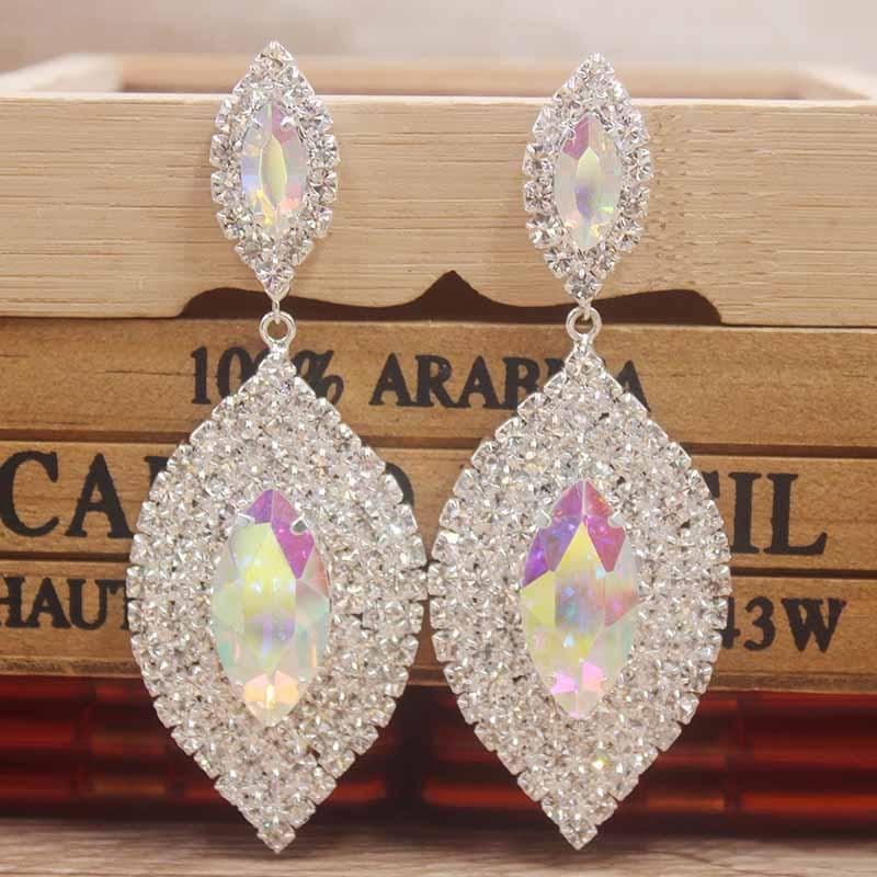 Delicate rhinestone Earrings Delicate Earrings Women Excelletn Dangle Handmake Earring Jewelry champagne/hotpink /black Crystal