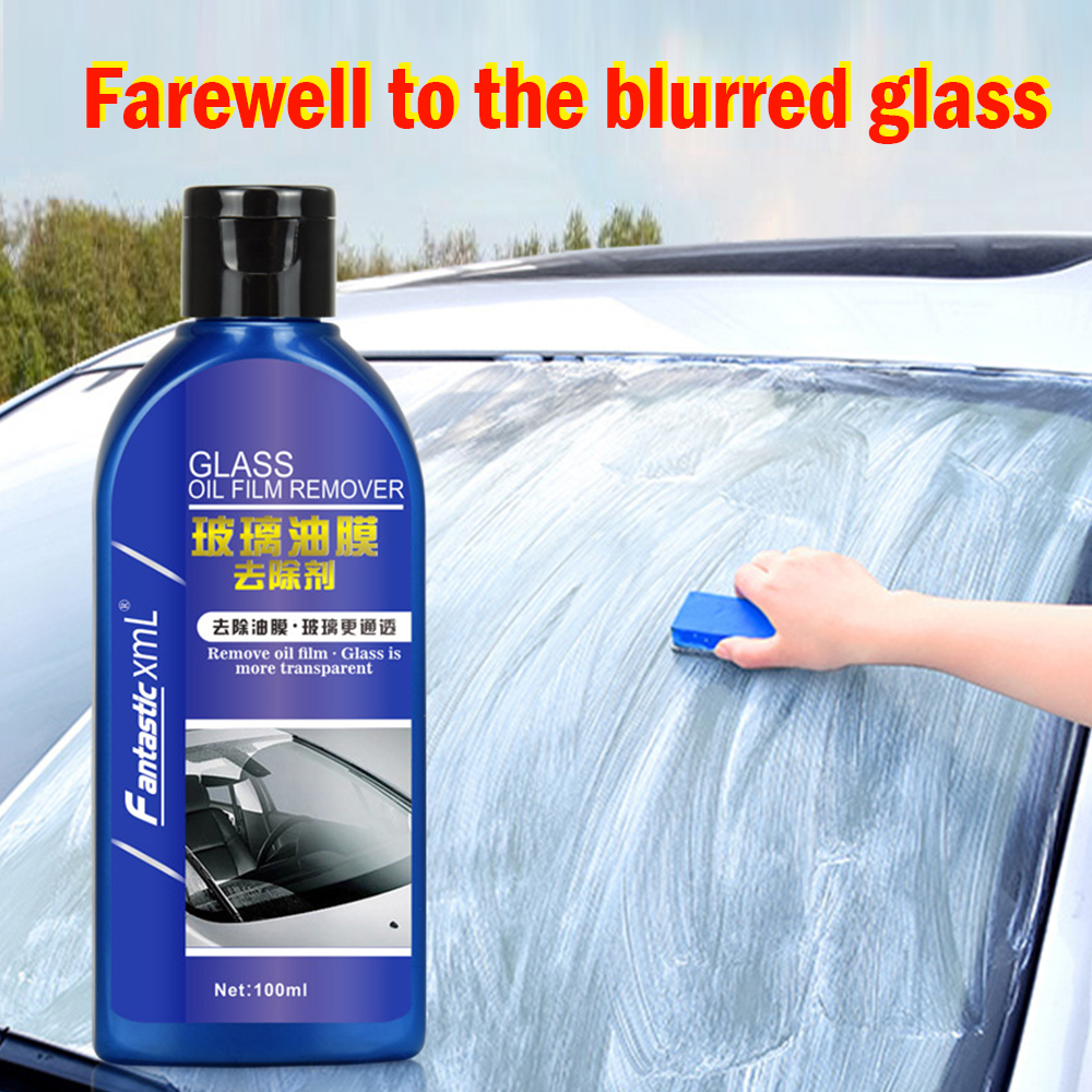 100ML Car Glass Oil Film Remover Strong Decontamination Cleaning Windshield Cleaning Agent Auto Maintenance Cleaner